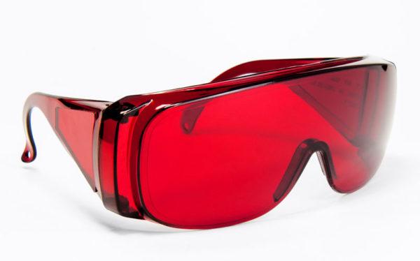 Okulary ochronne Overspec czerwone; protective google