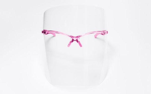 Przyłbica Ochronna Comfort Plus różowa